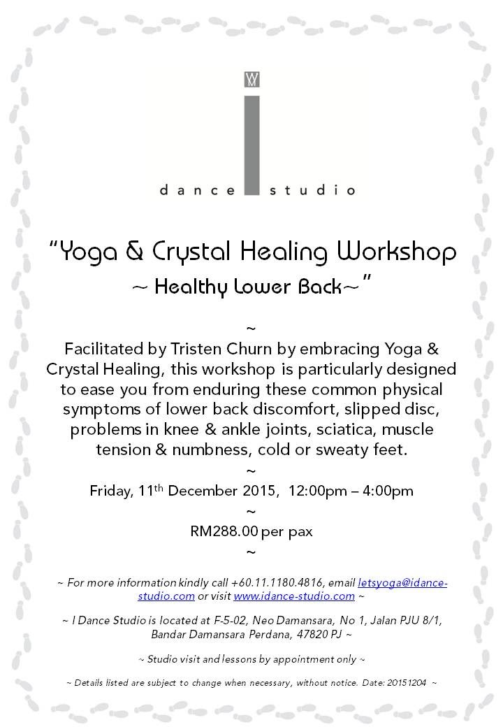 Yoga & Crystal Healing Workshop - Healthy Lower Back